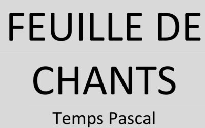Les chants du temps pascal